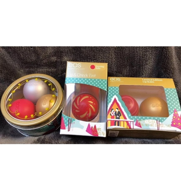 eos Other - New EOS 6 lip balm lot holiday collection